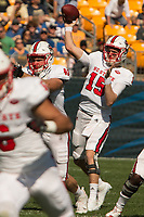 North Carolina State quarterback Ryan Finley. The North Carolina Wolfpack defeated the Pitt Panthers 35-17 at Heinz Field, Pittsburgh, PA on October 14, 2017.
