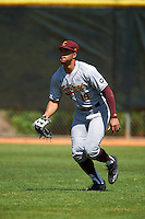Central Michigan Chippewas right fielder Daniel Robinson (19) during practice before a game against the Boston College Eagles on March 3, 2017 at North Charlotte Regional Park in Port Charlotte, Florida.  Boston College defeated Central Michigan 5-4.  (Mike Janes/Four Seam Images)