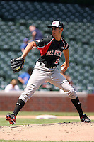 August 18 2008:  Matthew Purke (27) of the Baseball Factory team during the 2008 Under Armour All-American Game at Wrigley Field in Chicago, IL.  Photo by:  Mike Janes/Four Seam Images