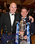 St Johnstone FC Scottish Cup Celebration Dinner at Perth Concert Hall...01.02.15<br /> Chairman Steve Brown and<br /> Picture by Graeme Hart.<br /> Copyright Perthshire Picture Agency<br /> Tel: 01738 623350  Mobile: 07990 594431