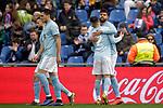 Celta de Vigo's Hugo Mallo and Nestor Araujo celebrate goal  during La Liga match. February 09,2019. (ALTERPHOTOS/Alconada)
