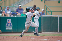 Dartmouth Big Green catcher Logan Adams (10) follows through on a swing during a game against the USF Bulls on March 17, 2019 at USF Baseball Stadium in Tampa, Florida.  USF defeated Dartmouth 4-1.  (Mike Janes/Four Seam Images)