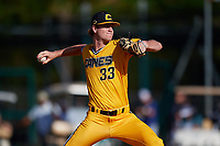 Thomas Schultz during the WWBA World Championship at the Roger Dean Complex on October 18, 2018 in Jupiter, Florida.  Thomas Schultz is a right handed pitcher from Mount Carmel, Pennsylvania who attends Our Lady Of Loudes High School and is committed to Vanderbilt.  (Mike Janes/Four Seam Images)