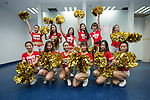 Tsingtao beer cheerleaders photographed before the match between Jiangsu Sainty (CHN) and Becamex Binh Duong (VIE), part of the AFC Champions League Group E on 20 April 2016 at the Olympic Sports Centre in Nanjing, China. Photo by Lucas Schifres / Power Sport Images