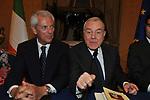 MARCO TRONCHETTI PROVERA CON GIANNI LETTA<br /> PREMIO GUIDO CARLI - SECONDA EDIZIONE<br /> PALAZZO DI MONTECITORIO - SALA DELLA REGINA ROMA 2011