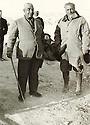 Syria 1950?.<br /> Hussein Ibech, Kurdish notable and Geladet Bedir Khan in the village of Hegane.<br /> Syrie 1950? .<br /> Hussein Ibech, notable kurde et Geladet Bedir Khan dans le village de Higane