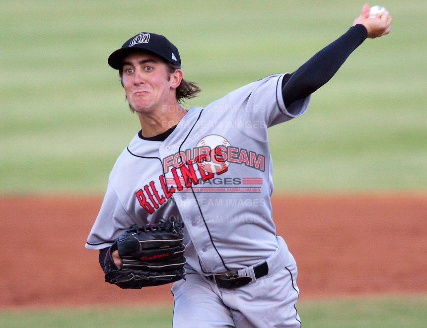 July 10, 2009: Shea Snowden of the Billings Mustangs, Rookie Class-A affiliate of the Cincinnati Reds, during a game at the Orem Owlz Ballpark in Orem, UT. Photo by: Matthew Sauk/Four Seam Images
