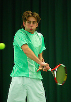 10-3-06, Netherlands, tennis, Rotterdam, National indoor junior tennis championchips, Andoni Kapnisakis
