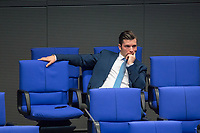 """Sitzung des Deutschen Bundestag am Donnerstag den 19. April 2018.<br /> Im Bild: Der Abgeordnete der rechtsnationalistischen """"Alternative fuer Deutschland"""", AfD, Jan Ralf Nolte. Nolte nahm waehrend der Sitzung Stellung zu den Vorhaltungen aus dem Plenum, er wuerde einen Rechtsextremisten als Angestellten beschaeftigten, der Aufgrund seiner rechtsextremen Umtriebe keine Sicherheitsfreigabe des Deutschen Bundestag und somit auch keine Zugangsberechtigung zum Bundestag bekommen hat.<br /> 19.1.2018, Berlin<br /> Copyright: Christian-Ditsch.de<br /> [Inhaltsveraendernde Manipulation des Fotos nur nach ausdruecklicher Genehmigung des Fotografen. Vereinbarungen ueber Abtretung von Persoenlichkeitsrechten/Model Release der abgebildeten Person/Personen liegen nicht vor. NO MODEL RELEASE! Nur fuer Redaktionelle Zwecke. Don't publish without copyright Christian-Ditsch.de, Veroeffentlichung nur mit Fotografennennung, sowie gegen Honorar, MwSt. und Beleg. Konto: I N G - D i B a, IBAN DE58500105175400192269, BIC INGDDEFFXXX, Kontakt: post@christian-ditsch.de<br /> Bei der Bearbeitung der Dateiinformationen darf die Urheberkennzeichnung in den EXIF- und  IPTC-Daten nicht entfernt werden, diese sind in digitalen Medien nach §95c UrhG rechtlich geschuetzt. Der Urhebervermerk wird gemaess §13 UrhG verlangt.]"""