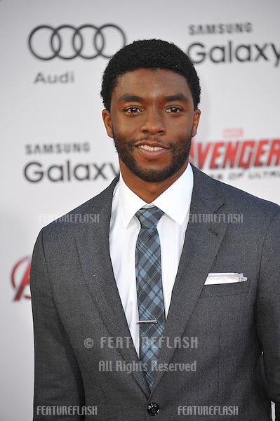 """Chadwick Boseman at the world premiere of """"Avengers: Age of Ultron"""" at the Dolby Theatre, Hollywood.<br /> April 13, 2015  Los Angeles, CA<br /> Picture: Paul Smith / Featureflash"""