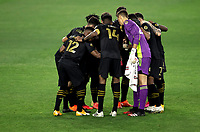 LOS ANGELES, CA - SEPTEMBER 02: Los Angeles Football Club during a game between San Jose Earthquakes and Los Angeles FC at Banc of California stadium on September 02, 2020 in Los Angeles, California.