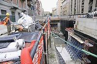 - Milan, site for construction of new subway line number 5....- Milano cantiere per la costruzione della nuova linea 5 della metropolitana