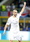 Real Madrid's Pepe during UEFA Champions League 2015/2016 Final match.May 28,2016. (ALTERPHOTOS/Acero)