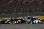 #18: Christian Eckes, Kyle Busch Motorsports, Toyota Tundra Safelite AutoGlass and #16: Austin Hill, Hattori Racing Enterprises, Toyota Tundra United Rentals