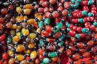 Nepal, Kathmandu.  Bead Necklaces.