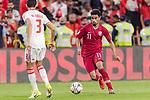 Akram Hassan Afif of Qatar (R) in action during the AFC Asian Cup UAE 2019 Semi Finals match between Qatar (QAT) and United Arab Emirates (UAE) at Mohammed Bin Zaied Stadium  on 29 January 2019 in Abu Dhabi, United Arab Emirates. Photo by Marcio Rodrigo Machado / Power Sport Images