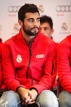 Real Madrid player Raul Albiol participates and receives new Audi during the presentation of Real Madrid's new cars made by Audi at the Jarama racetrack on November 8, 2012 in Madrid, Spain.(ALTERPHOTOS/Harry S. Stamper)