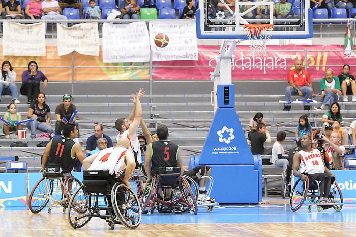 Adam Lancia, Guadalajara 2011 - Wheelchair Basketball // Basketball en fauteuil roulant.<br /> Team Canada competes in the bronze medal game // Équipe Canada participe au match pour la médaille de bronze. 11/18/2011.