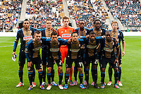 Philadelphia Union  starting eleven. The New York Red Bulls defeated the Philadelphia Union 3-0 during a Major League Soccer (MLS) match at PPL Park in Chester, PA, on October 27, 2012.