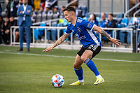 SAN JOSE, CA - MAY 15: Paul Marie #3 of the San Jose Earthquakes controls the ball during a game between San Jose Earthquakes and Portland Timbers at PayPal Park on May 15, 2021 in San Jose, California.