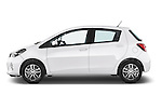 Car Driver side profile view of a 2015 Toyota YARIS Dynamic 5 Door Hatchback 2WD Side View