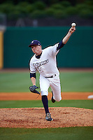 NW Arkansas Naturals pitcher Daniel Stumpf (11) delivers a pitch during a game against the San Antonio Missions on May 30, 2015 at Arvest Ballpark in Springdale, Arkansas.  San Antonio defeated NW Arkansas 5-1.  (Mike Janes/Four Seam Images)