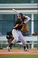 Pittsburgh Pirates Adam Frazier (2) during an instructional league intrasquad black and gold game on September 18, 2015 at Pirate City in Bradenton, Florida.  (Mike Janes/Four Seam Images)
