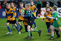 Saturday 13th October 2018 | Ulster vs Leicester<br /> <br /> Halftime mini-rugby during the first round clash in the Heineken Champions Cup between Ulster Rugby and Leicester Tigers at Kingspan Stadium, Ravenhill Park, Belfast, Northern Ireland. Photo by John Dickson / DICKSONDIGITAL