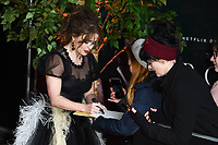 "LONDON, UK. November 13, 2019: Helena Bonham Carter arriving for ""The Crown"" series 3 premiere at the Curzon Mayfair, London.<br /> Picture: Steve Vas/Featureflash"
