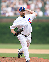 Scott Eyre of the Chicago Cubs vs. the San Diego Padres: June 18th, 2007 at Wrigley Field in Chicago, IL.  Photo by Mike Janes/Four Seam Images