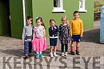 Pupils from Scoil Dhún Chaoin Conor Ó Ciobhain, Marie Claire Ní Loineachain, Anna Ní Chonchúir, Leona Rose Ní Chonchúir and Faolan Ó Liaigh who started school this year.