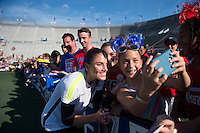 Birmingham, AL - September 19, 2015:  The USWNT held an opening training session in preparation for their match with Haiti at Legion Field..