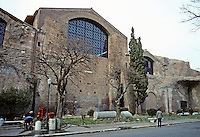 Italy: Rome--Baths of Diocletian, 3-4th century. Photo '82.