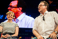Hay on Wye, UK. Sunday 29 May 2016<br /> Pictured:Maxine Peake and Russel T Davies <br /> Re: The 2016 Hay festival take place at Hay on Wye, Powys, Wales