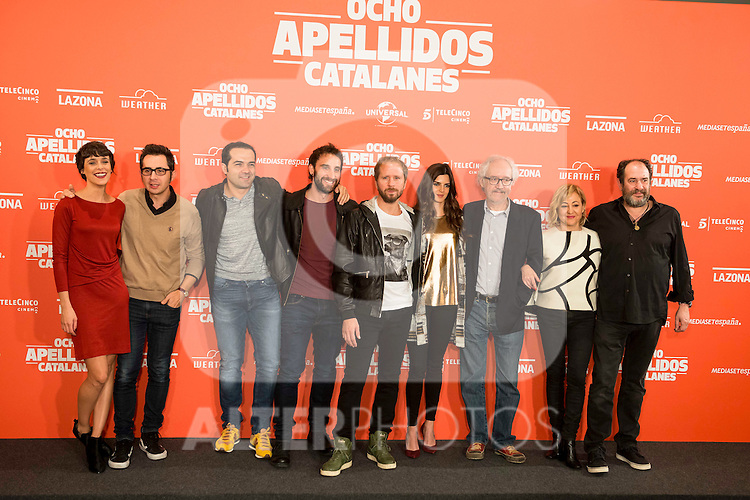 "Full cast during the presentation of the film ""Ocho Apellidos Catalanes"" in Madrid, November 17, 2015.<br /> (ALTERPHOTOS/BorjaB.Hojas)"