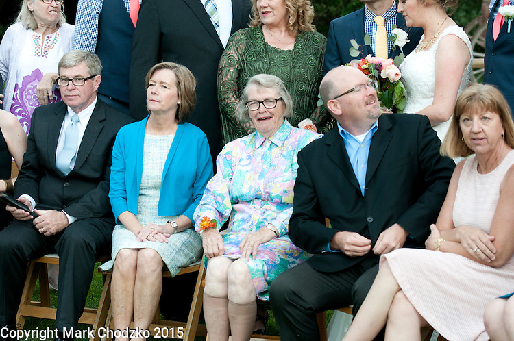 Grandma flashes her legs at the wedding for Josh & Lauren Carlton.