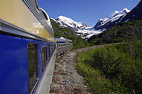 Riding the Alaska Railroad Glacier Discovery Train, Chugach National Forest, Alaska.