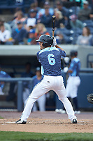 Brady Policelli (6) of the West Michigan Whitecaps at bat against the South Bend Cubs at Fifth Third Ballpark on June 10, 2018 in Comstock Park, Michigan. The Cubs defeated the Whitecaps 5-4.  (Brian Westerholt/Four Seam Images)