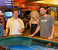 LAS VEGAS, NV - July 15, 2021: James Rowe, Hannah Godwin and Dylan Barbour pictured at Westgate Las Vegas Resort & Casino in Las Vegas, NV on July 15, 2021. <br /> CAP/MPI/GDP<br /> ©GDP/MPI/Capital Pictures