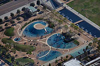 aerial photograph of Waterfront Park Playground, San Diego, California