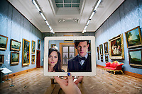 Pictured: Filming of Doctor Who in Cardiff's National Museum with Matt Smith and Jenna Louise Coleman<br />