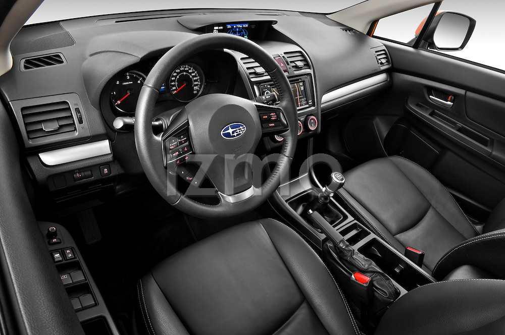 High angle dashboard view of a 2012 Subaru XV Executive SUV