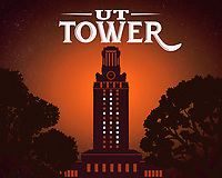 This is a poster print of the UT Tower lit with No. 19 in celebration of the 2019 Commencement graduation of students.<br />