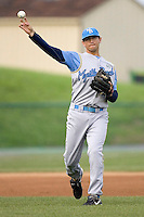 Lundahl, Chad 1436.jpg. Carolina League Myrtle Beach Pelicans at the Frederick Keys at Harry Grove Stadium on May 13th 2009 in Frederick, Maryland. Photo by Andrew Woolley.