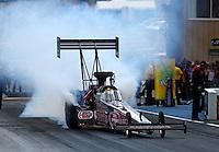Jul. 20, 2014; Morrison, CO, USA; NHRA top fuel driver Larry Dixon during the Mile High Nationals at Bandimere Speedway. Mandatory Credit: Mark J. Rebilas-