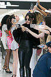 Camila Cabello a member of the American five-piece girl group Fifth Harmony takes pictures with fans upon her arrival at Narita International Airport on July 7, 2016, Chiba, Japan. Fifth Harmony are in Japan for the first time to promote their new song Work from Home. Fifth Harmony flew 25 hours from Sau Paulo to Japan after finishing their tour of South America. (Photo by Rodrigo Reyes Marin/AFLO)
