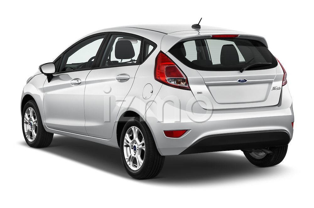 Car pictures of rear three quarter view of 2017 Ford Fiesta SE 5 Door Hatchback Angular Rear