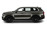 Car driver side profile view of a 2020 KIA Telluride SX 5 Door SUV