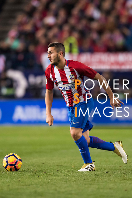 Koke of Atletico de Madrid during their La Liga match between Atletico de Madrid and Real Madrid at the Vicente Calderón Stadium on 19 November 2016 in Madrid, Spain. Photo by Diego Gonzalez Souto / Power Sport Images