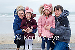 The Redmond family enjoying a stroll in Ballyheigue beach on Sunday, l to r: Louise, Olivia, Amelia and Jamie Redmond